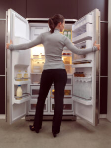 Don't rummage through fridge and cupboards during an open house