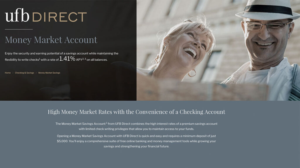 ufb direct money market account