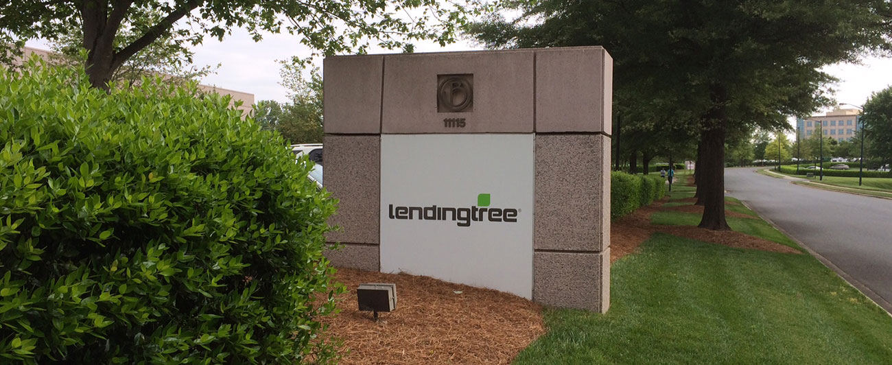 LendingTree post right outside of their center building