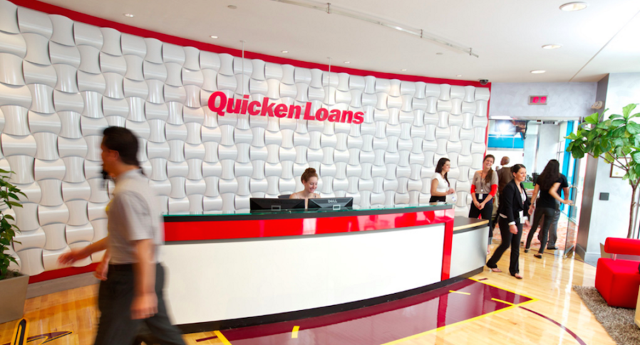 Quicken Loans front desk for customer information