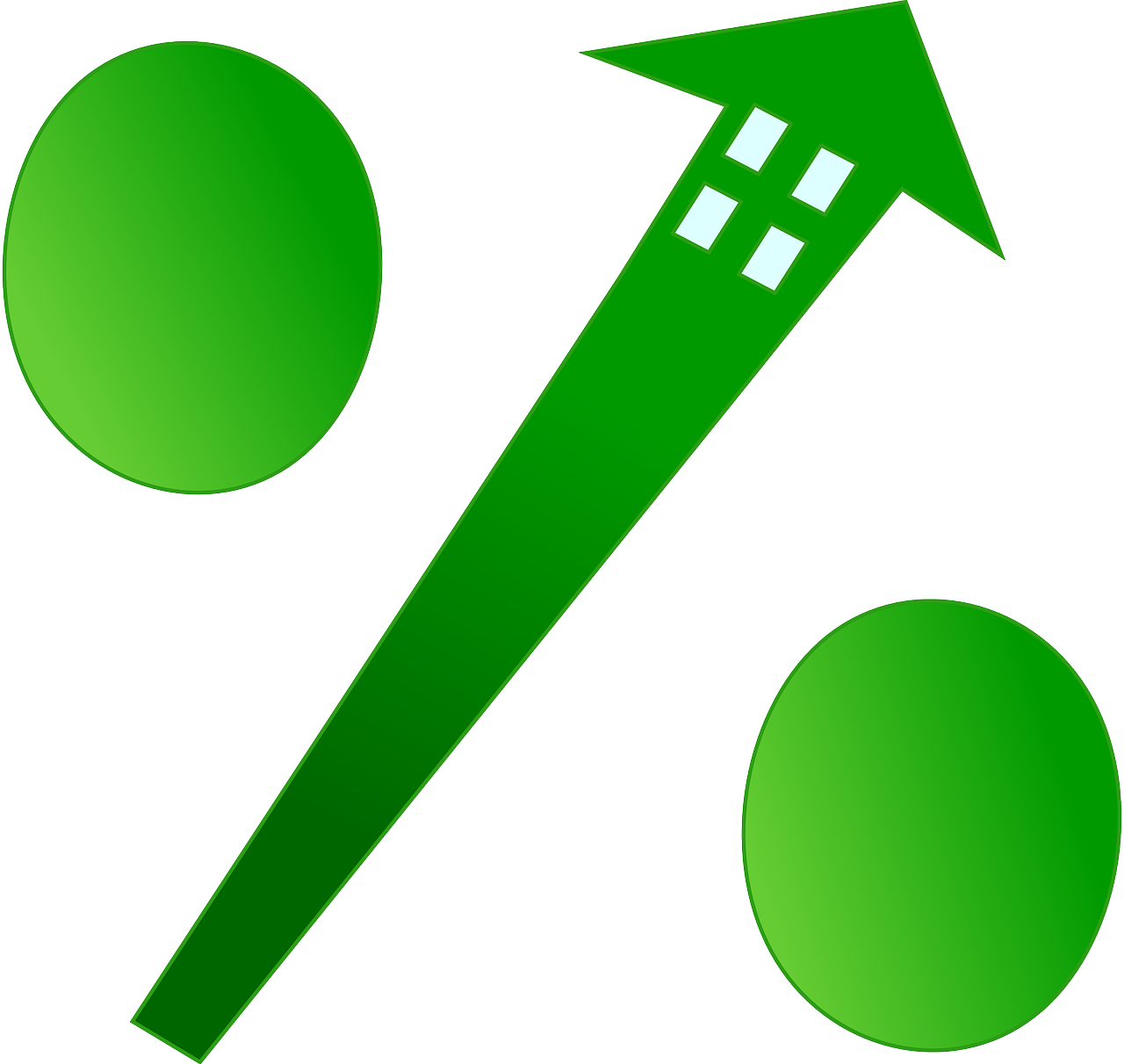 Percentage house representation of interest rate for mortgages